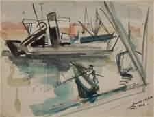Raphael Mohar 19061962 Israeli TelAviv Port 1959