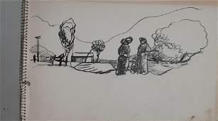 Aharon Giladi 19071993 Israeli Notebook with 4 pen