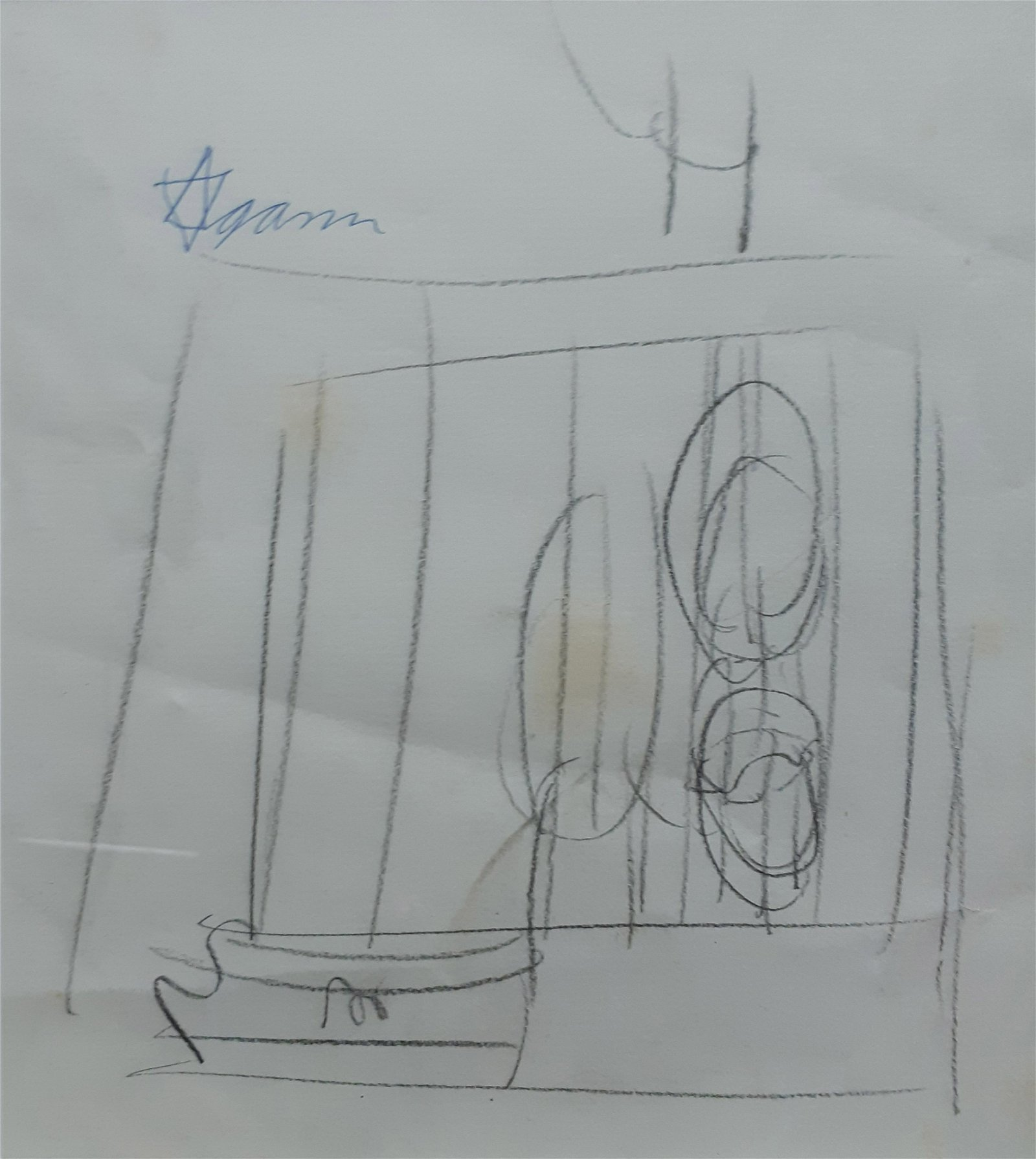 Yaacov Agam b.1928 (Israeli) Untitled pencil on paper