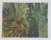 Mark Tochilkin b.1958 (Ukrainian, Israeli) Old Jewish