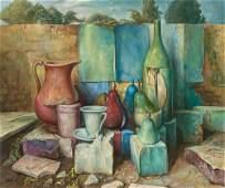 Samuel Bak b.1933 (Israeli) Still life, 1996 oil on