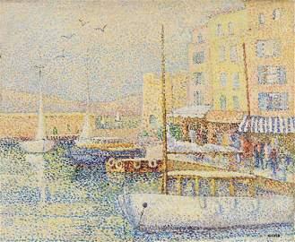 Yvonne Canu 1921-2008 (French) Saint-Tropez oil on