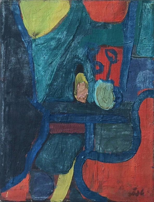 Shmuel Tepler 1918-1998 (Israeli) Still life, 1972 oil