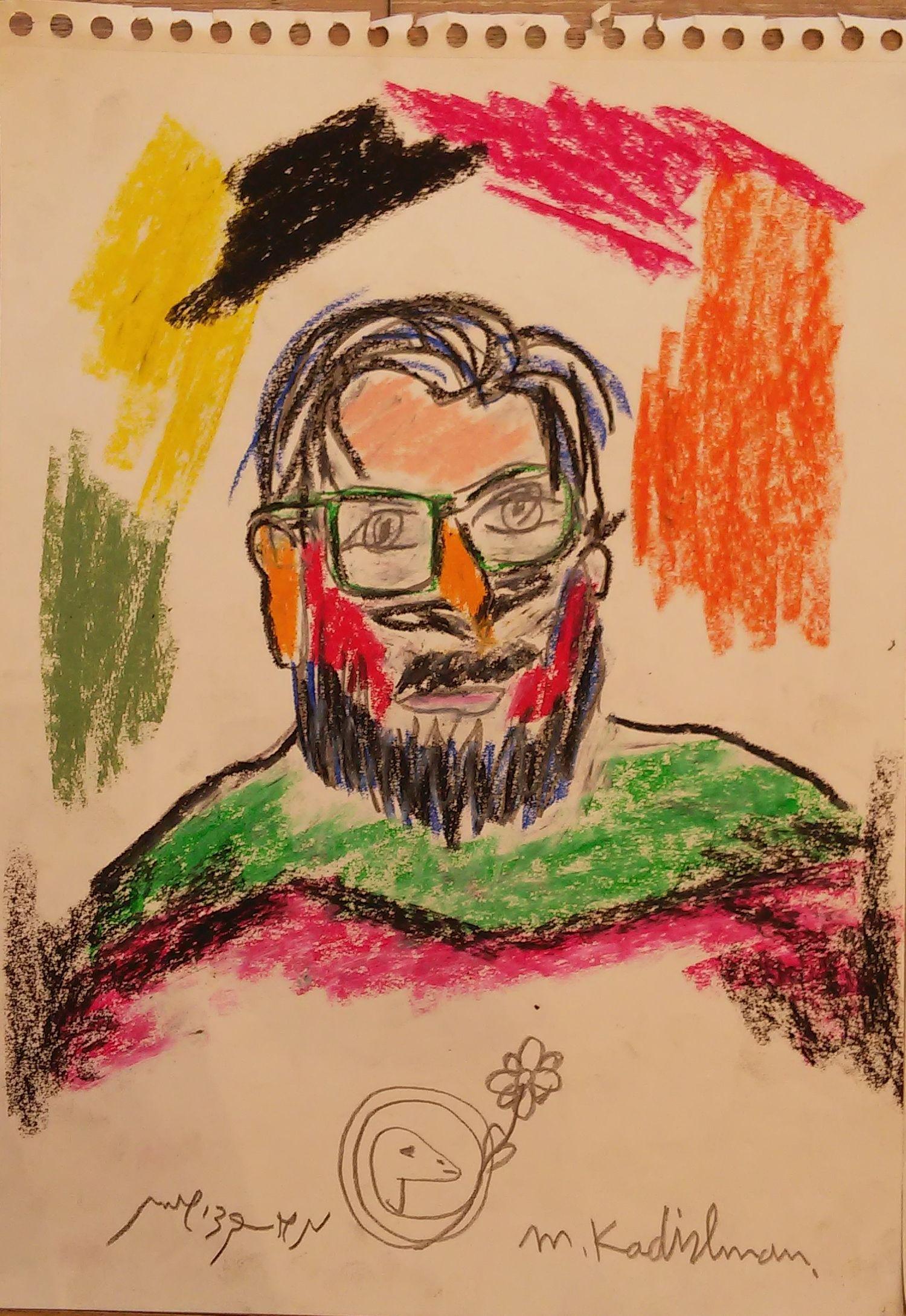 Menashe Kadishman 1932-2015 (Israeli) Man with glasses