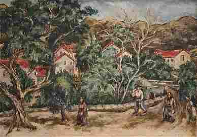 Isaac Pailes 1895-1978 (Ukrainian, French) Paysage du