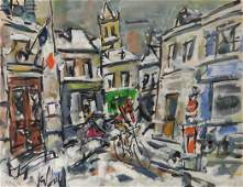 Gen Paul 1895-1975 (French) Street view with figures