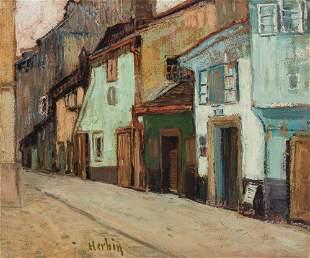 Auguste Herbin 1882-1960 (French) Scene du Rue oil on