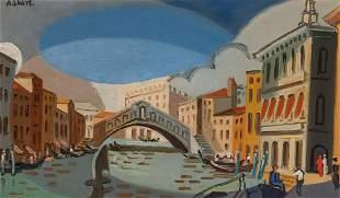 Andre Lhote 1885-1962 (French) Vue de Venice, 1952 oil