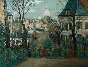 Alphonse Leon Quizet 18851955 French Urban landscape