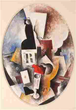 Robert Marc 19431993 French Still life with bottle