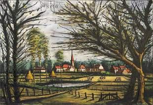 Bernard Buffet 1928-1999 (French) Le village, 1974 oil