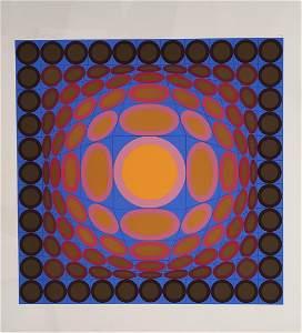 Victor Vasarely 1906-1997 (Hungarian, French) Tri-Vega,