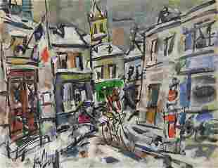 Gen Paul 18951975 French Street view with figures