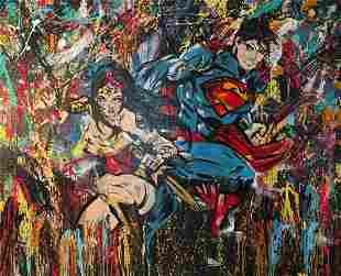 Babou b1979 French Vigni Vici acrylic on canvas