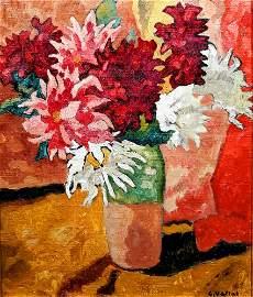 Louis Valtat 1869-1952 (French) Bouquet de dahlias,