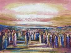 Yoram Raanan b.1953 (Israeli) Untitled oil on canvas