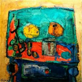 Paul Aizpiri b.1919 (French) Still life oil on canvas