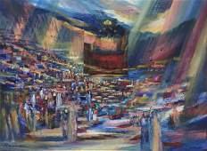 Yoram Raanan b.1953 (Israeli) Prayers oil on canvas