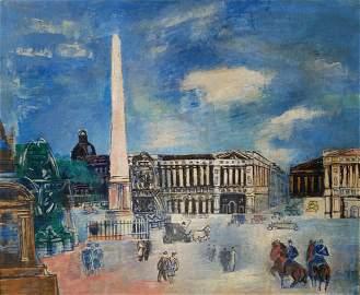 **Jean Dufy 1888-1964 (French) Paris Scene oil on