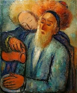 Reuven Rubin 1893-1974 (Israeli) Washing hands before