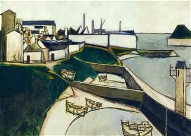 Claude Venard 1913-1999 (French) Le Port, 1953 oil on