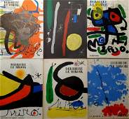 Lot includes 6 book of Joan Miro