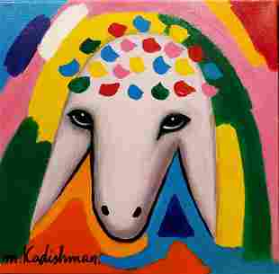 Menashe Kadishman 1932-2015 (Israeli) Sheep head