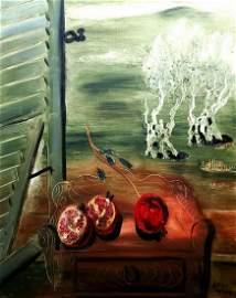 Reuven Rubin 1893-1974 (Israeli) Pomegranates oil on