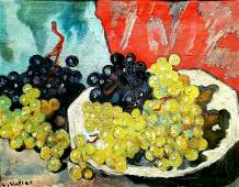 Louis Valtat 1869-1952 (French) Grapes, 1937 oil on