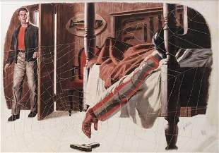 Hy Rubin 1905-1960 (American) Untitled mixed media on