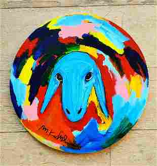 Menashe Kadishman 1932-2015 (Israeli) Sheep head round