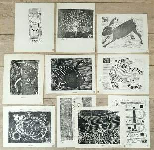 Rudi Lehmann 1903-1977 (Israeli) Animals - lot includes