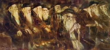 Mark Tochilkin b.1958 (Ukrainian, Israeli) Minyan oil