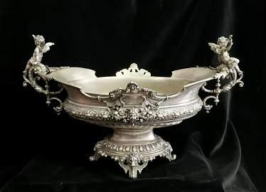 Spectacular 19th century German silver centerpiece