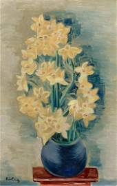Moise Kisling 1891-1953 (Polish, French) Fleurs, 1924