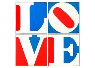 Robert Indiana b.1928 (American) Four panel Love - 1972