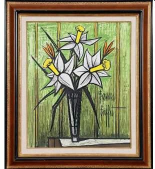 Bernard Buffet 1928-1999 (French) Bouquet de
