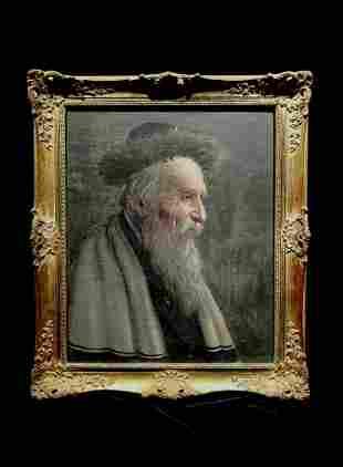 Konstantine Szewczenko 1915-1991 (Polish) Old Jew oil