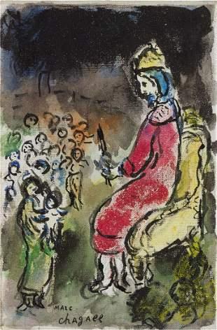 Marc Chagall 1887-1985 (Russian, French) Le Roi David,