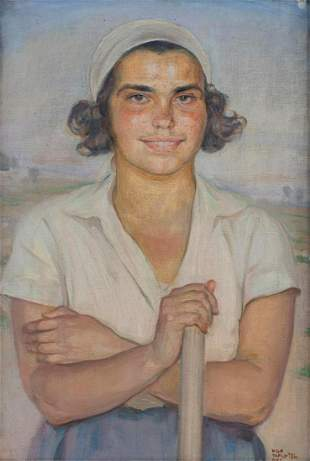 Wilhelm Wachtel 1875-1942 (Polish) Jewish boy, 1933 oil