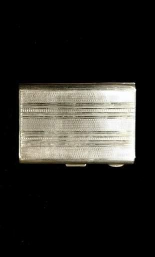 Sterling silver visit card or cigarette box, gilded