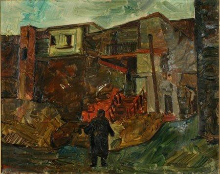 1:  Artist Name:  Pinchas Litvinovsky Houses in Jerusal