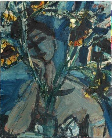 2:  Artist Name:  Sigmund Menkes Woman holding bouquet