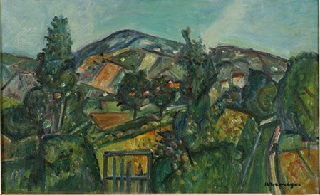 3:  Artist Name:  Pinchus Kremegne Rural Landscape