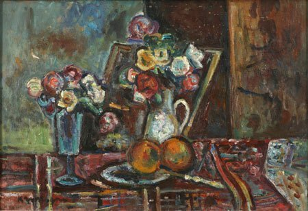 5:  Artist Name:  Pinchus Kremegne Still life with frui