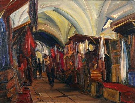 6:  Artist Name:  Ludwig Blum Jerusalem. The old city m