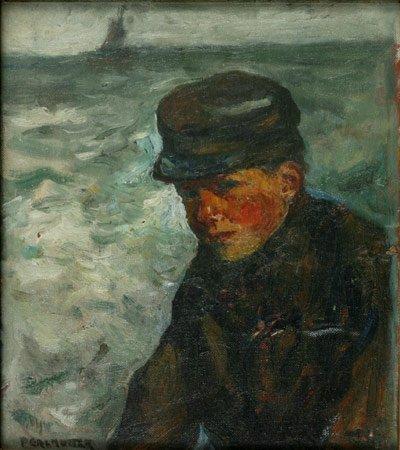 9:  Artist Name:  Yitzhak Perlmutter A boy