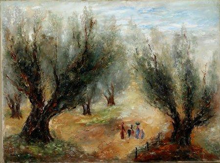 16:  Artist Name:  Reuven Rubin Olive harvest