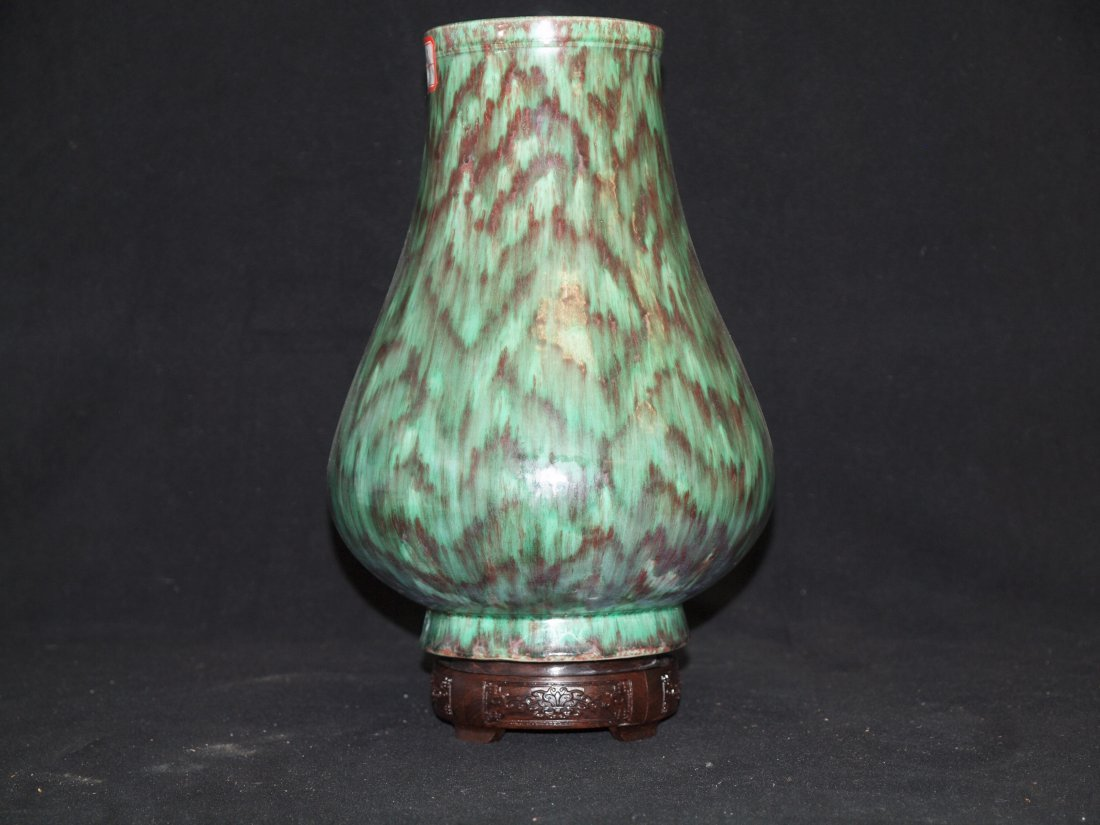Green Glazed with Red colour and Marking