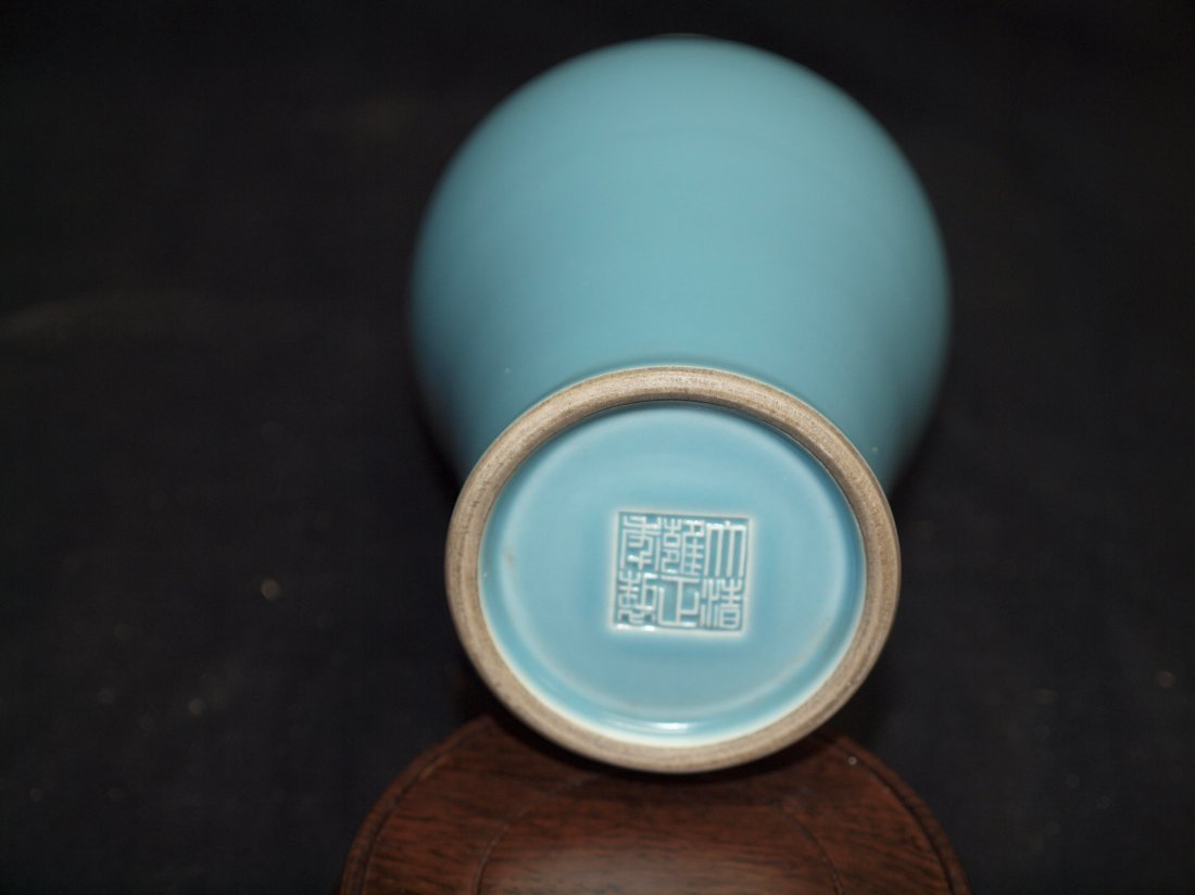 Light Blue Quan Yin  Vase - 2